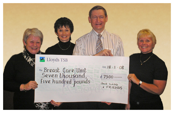 Fundraising £7500 for Breast Care Unit 2008